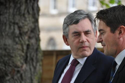 Gordon Brown and Nick Barley