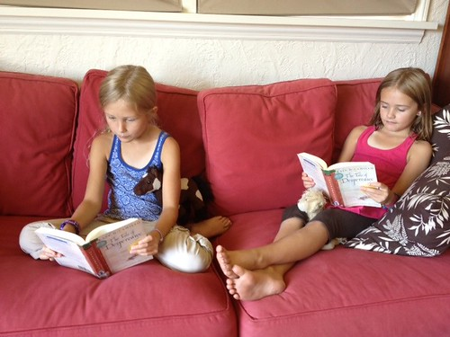 eden and cora reading our book club book