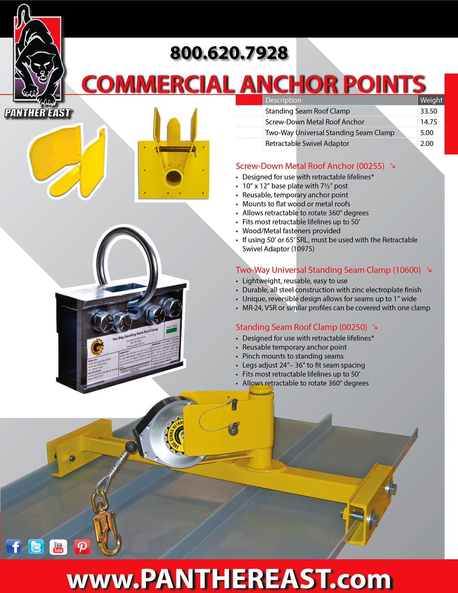 DEALS on Standing Seam/Metal Roof Equipment, Tools and Fall Protection Equipment!