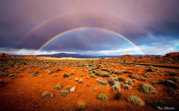 Double rainbow in the Valley of Fire