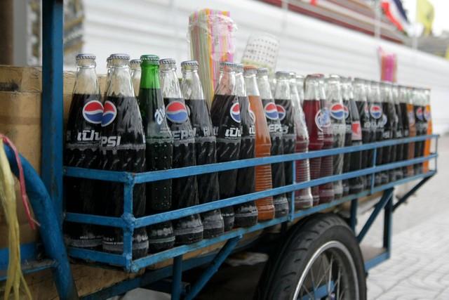 retro soda bottles