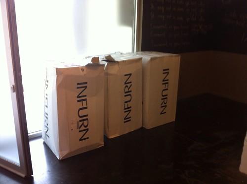 Zitzakken in doos