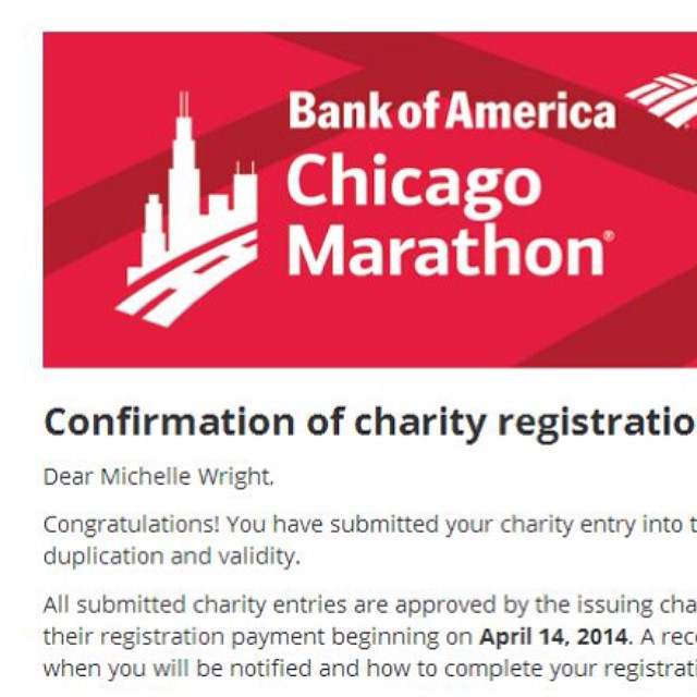 No turning back now!!! #chimarathon #26.2 #eek