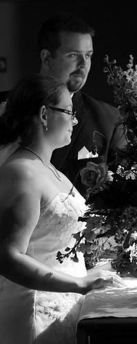 Bride and Groom B/W Profile
