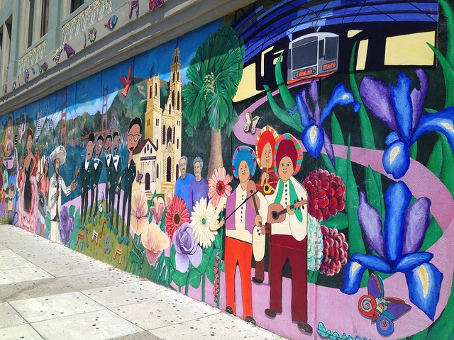 San Francisco themed mural, 21st Street, The Mission