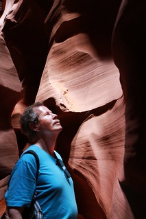 Man in Antelope Canyon