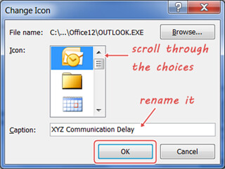 Change The Icon of an Embedded Email Object (Word 2007) – Perrinator com