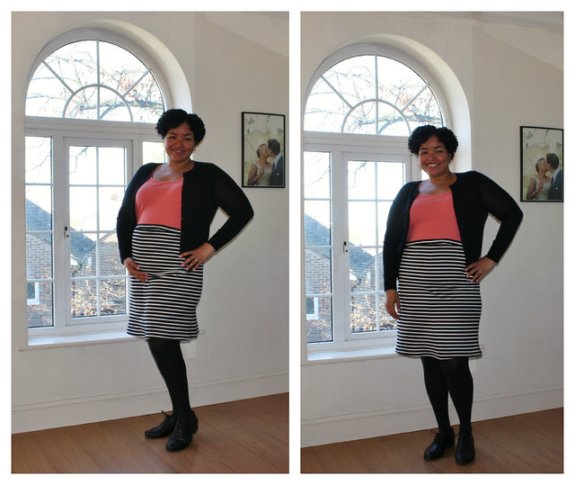 Stripey Maternity Skirt 2