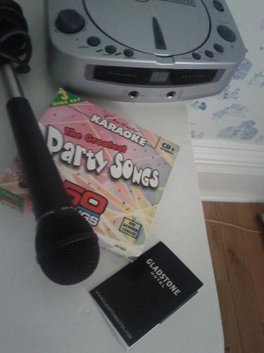 Karaoke in my hotel room