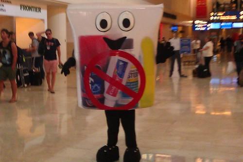 Cancun airport Mr Gels and Liquids