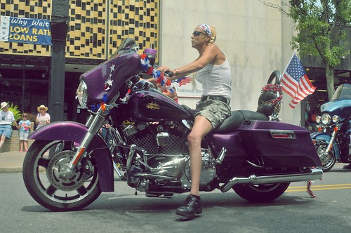 Girl on a bike by dogfrog