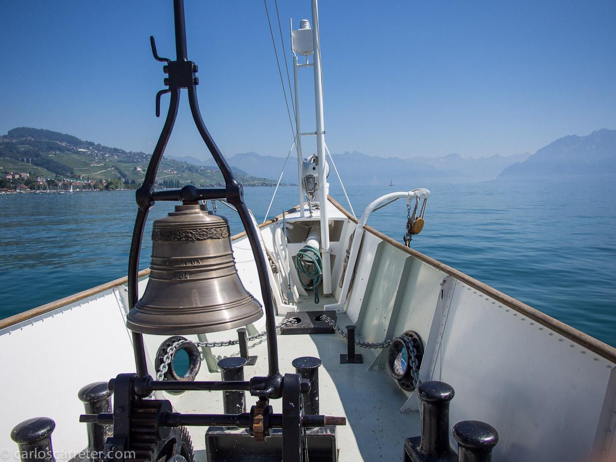 Embarcados en el lago Lemán