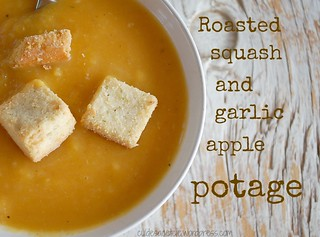 Roasted squash, garlic and apple potage