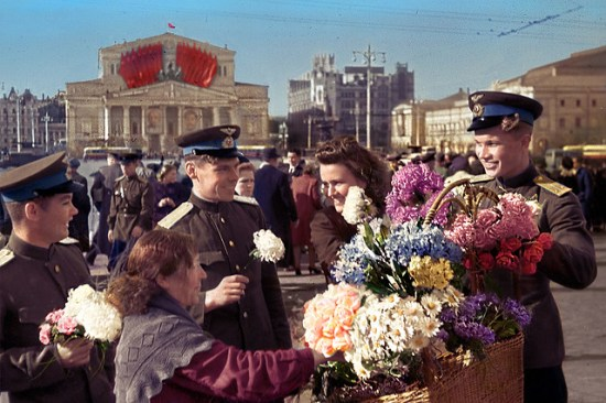 Victory Day in Moscow, 9 May 1945