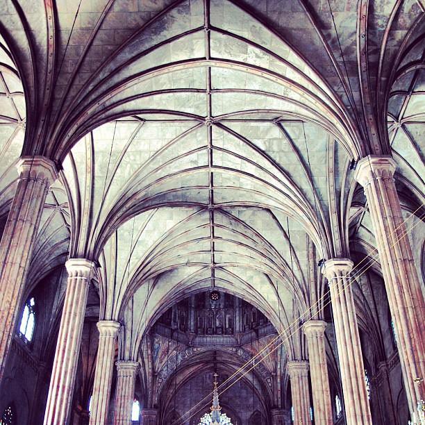 Interiors of the San Sebastian Basilica