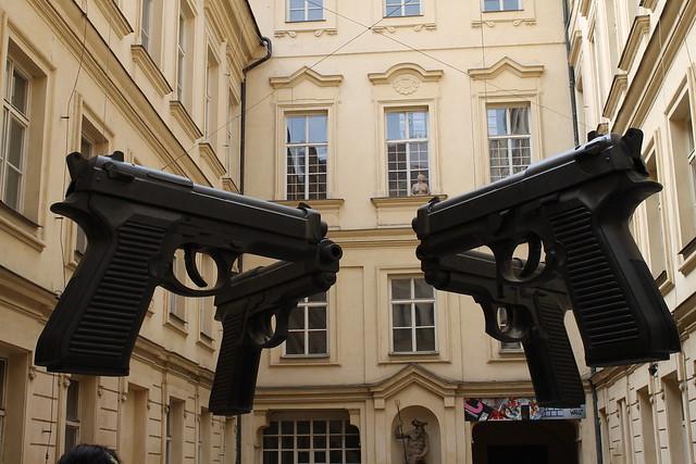Guns, by David Černý