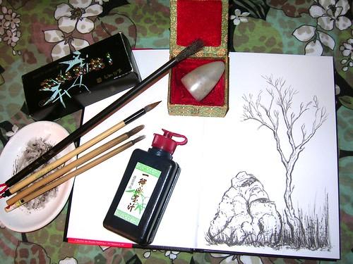 Chinese Brush Painting Tools