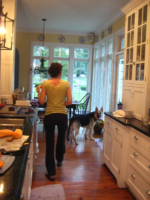 With TT in the kitchen