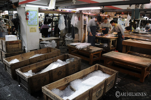 World famous Tsukiji Fish Market, 築地市場