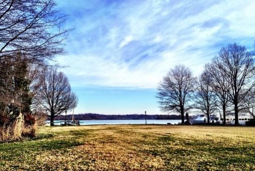 The Potomac River in winter.