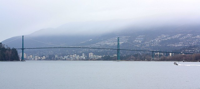 Lions Gate Bridge, First Narrows, Burrard Inlet, Stanley Park, Vancouver