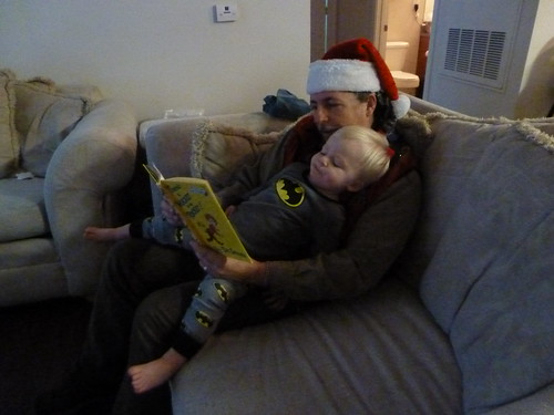 12-20-11 Dave reads to Adam (far)