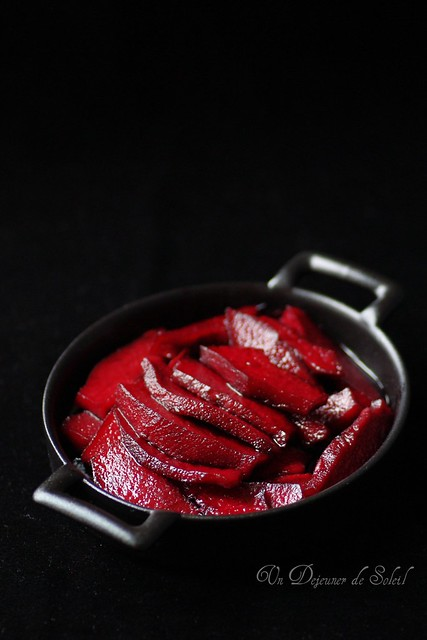 Quince with red wine...