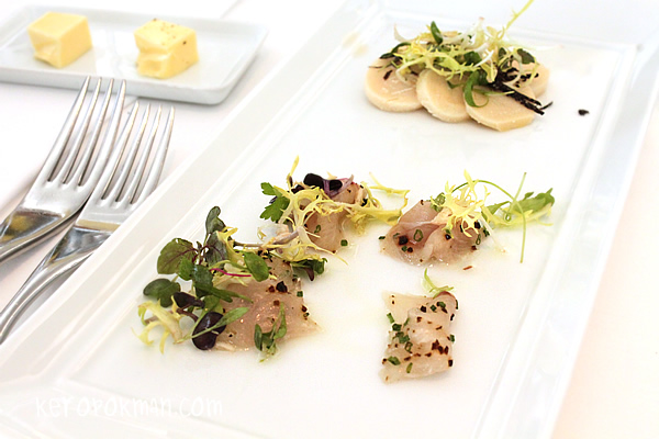 Ceviche of 'Buri-OH' and Steamed Bamboo Shoot Salad