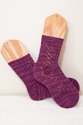 Lace and Cables Socks