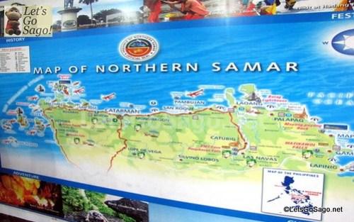 Map of Northern Samar