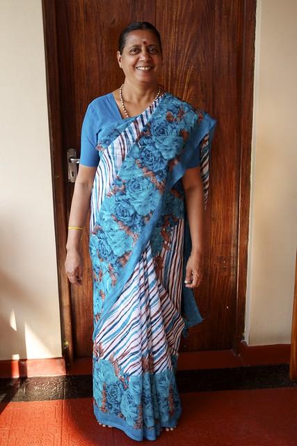 Amma in her Sari