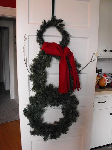 Snowman wreath 6