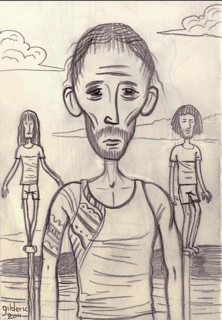 Teheiura perd Koh-Lanta (dessin de Gilderic)