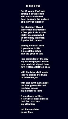 Fell a tree2 by Michael Ashley Poet