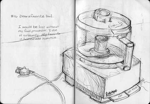 Sketchbook Project/EDM #16 Draw a favorite tool