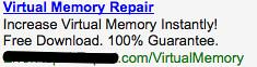 Ad #1 - Virtual Memory