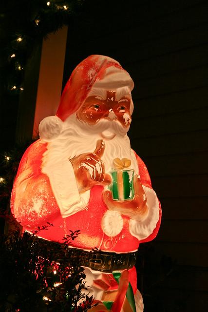 Creepy plastic Santa 3