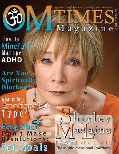 OM Times Magazine : January 2012 : Shirley MacLaine by deZengo