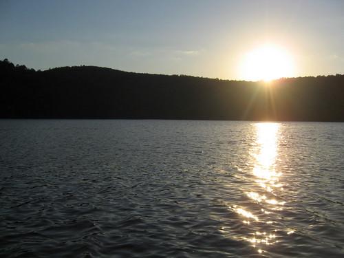 Clayton Lake at sunset