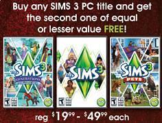 Sims 3 BOGO @ GameStop!