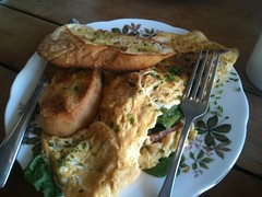 Chorizo Omlette at Wild Poppy Cafe