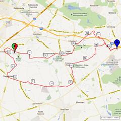 19. Bike Route Map. Hamilton Area YMCA, Crosswicks, NJ