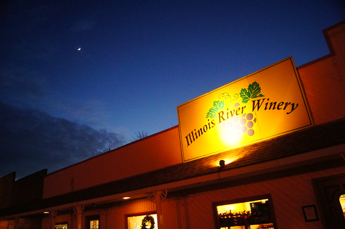 Moon over the Illinois River Winery