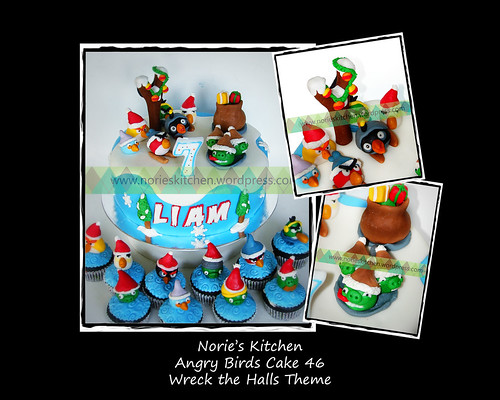 Norie's Kitchen - Angry Birds Cake 46 Wreck the Halls by Norie's Kitchen