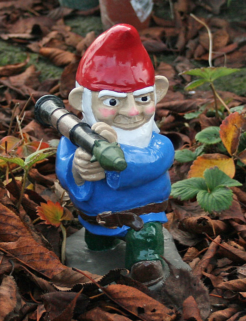 RPG7 Gnome Painted in Leaves