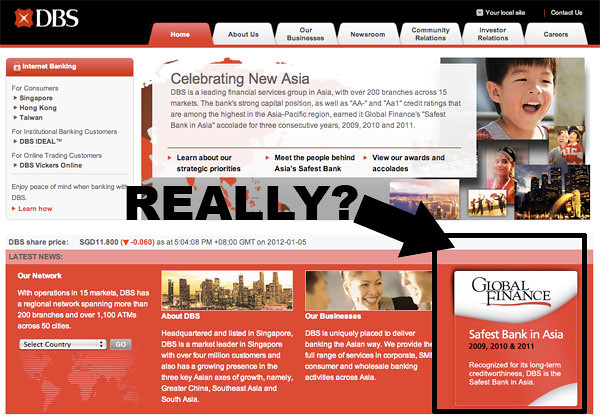 """Safest Bank in Asia""? Really DBS Bank? Limpeh WONG you ah, don't make me send Bolok Town Aaron Tan look for you!"