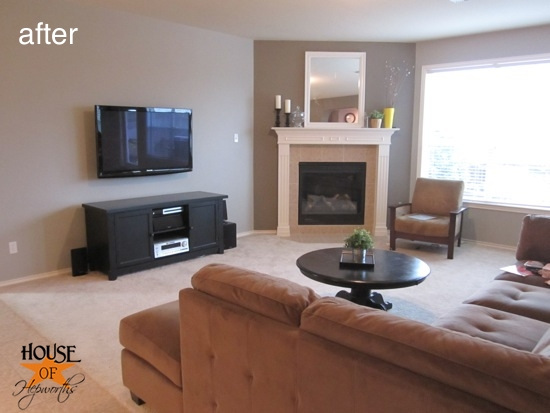 hiding tv in living room how to interior design a small mount your the wall and hide cords house of hepworths