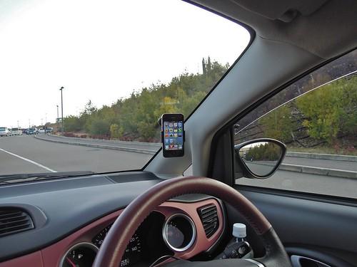 iPhone 4 in Subaru R1