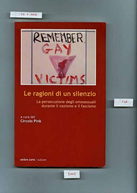 (circolo Pink) Le ragioni di un silenzio, ombre corte, 2002. cop. (part.)
