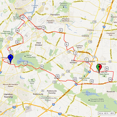 01. Bike Route Map. Etra Lake Park, Hightstown, NJ